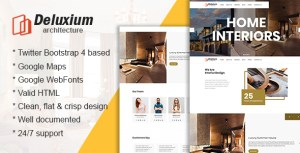 Deluxium - Architecture & Interior Design HTML Template