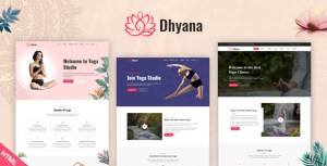 Dhyana - Yoga Studio & Meditation HTML Template