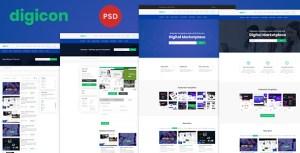 Digicon - Digital Content Marketplace PSD Template
