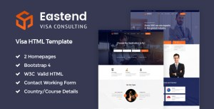 Eastend - Visa Consulting HTML Template