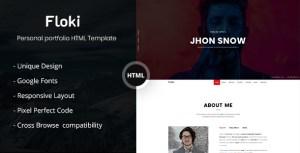 Floki - One Page Personal Portfolio HTML Template