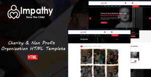 Impathy - Nonprofit, Donation, Charity HTML5 Template