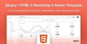 Kero - HTML5 jQuery Bootstrap 4 App Admin Template