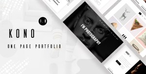 Kono - Personal / Portfolio and Resume Template