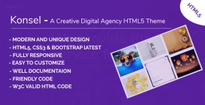 Konsel - A Creative Digital Agency HTML5 Template