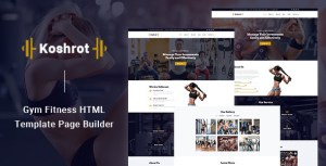 Koshrot - Gym Fitness HTML Template with Page Builder