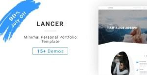 Lancer - Minimal Personal Portfolio Template