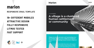 Marion – Responsive HTML Email + StampReady, MailChimp & CampaignMonitor Compatible Files