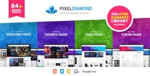 Pixel Diamond - HTML eSports & Gaming Magazine & Community