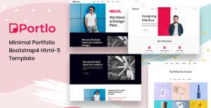 Portlo - Minimal Portfolio Bootstrap4 HTML5 Template