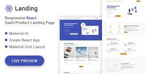 React Land - Material UI React SaaS/Product Landing Page