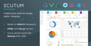 Scutum - Professional Material Design UIkit Admin Template