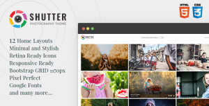 Shutter - Photography HTML5 Template