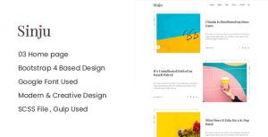 Sinju - HTML5 Blog Site Template
