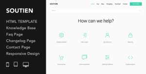Soutien | Customer Support Helpdesk HTML Template
