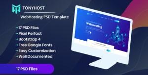 Tonyhost - Web Hosting PSD Template