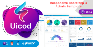 Uicod - Responsive Bootstrap 4 Admin Dashboard & WebApp Templates