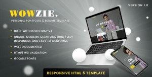 WOWZIE - Personal Portfolio & Resume Template