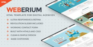 Weberium | Responsive HTML5 Template Tailored for Digital Agencies