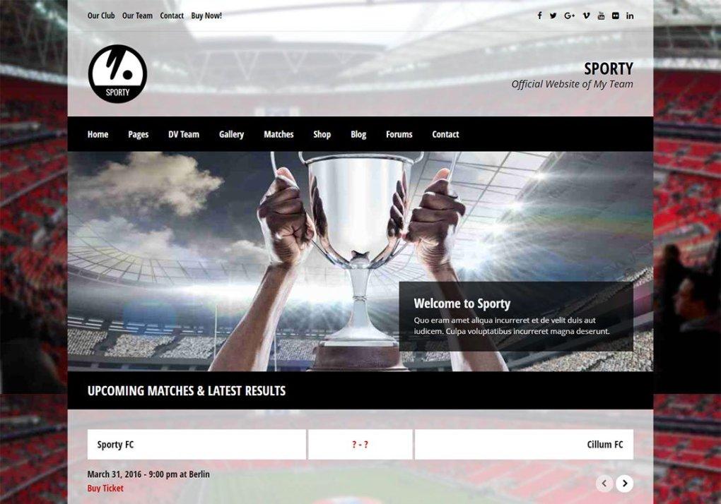 Thème WordPress baseball sportif