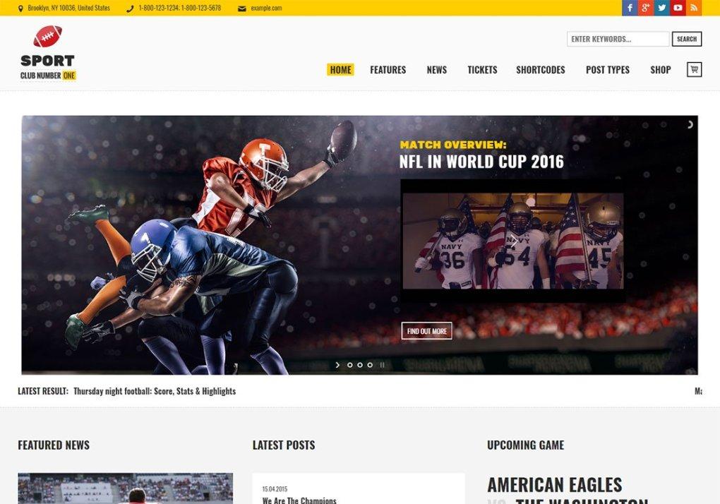 Thème WordPress Baseball Sports Club