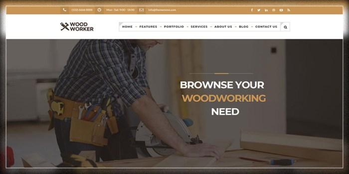 WoodWorker - Thème WordPress Carpentry