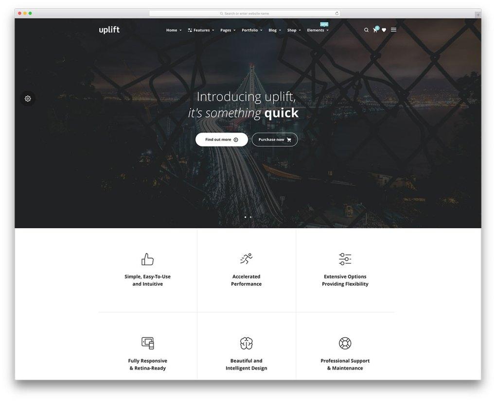 modèle de page de destination marketing simple
