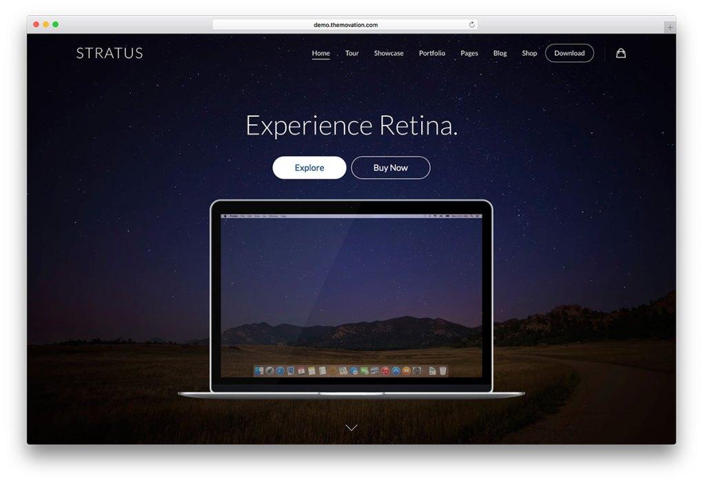 stratus - Thème WordPress pour vitrine d'applications