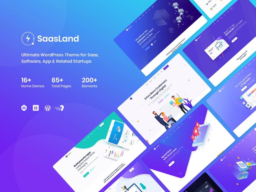 Thème WordPress pour page de destination SaaS