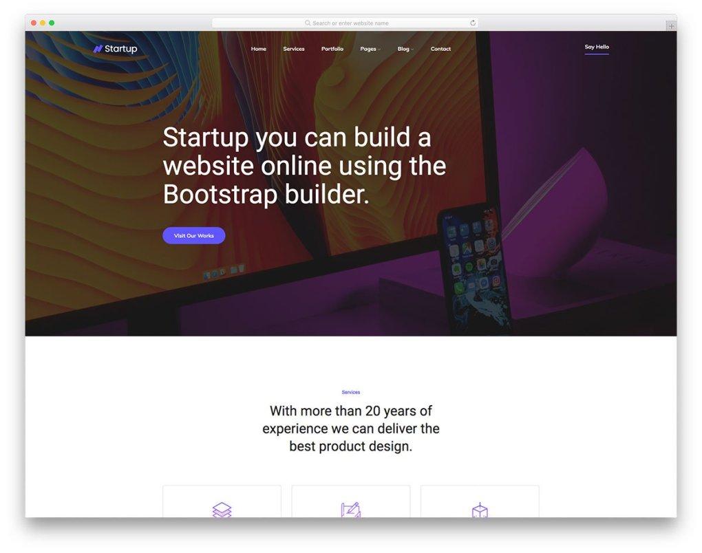 Modèle gratuit Startup2
