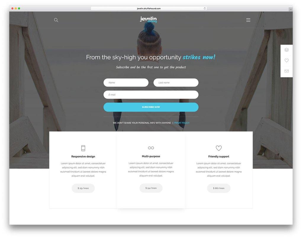 Meilleurs thèmes WordPress pour la page de destination