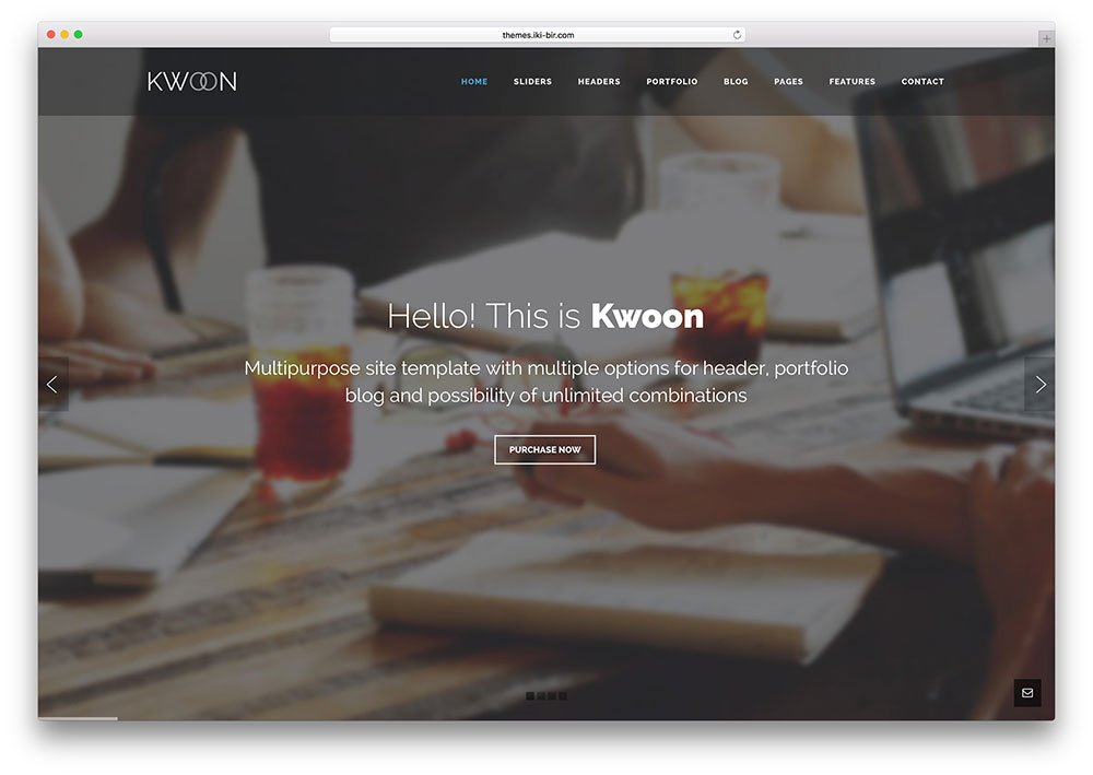 kwoon-multipurpose-business-bootstrap-website-template