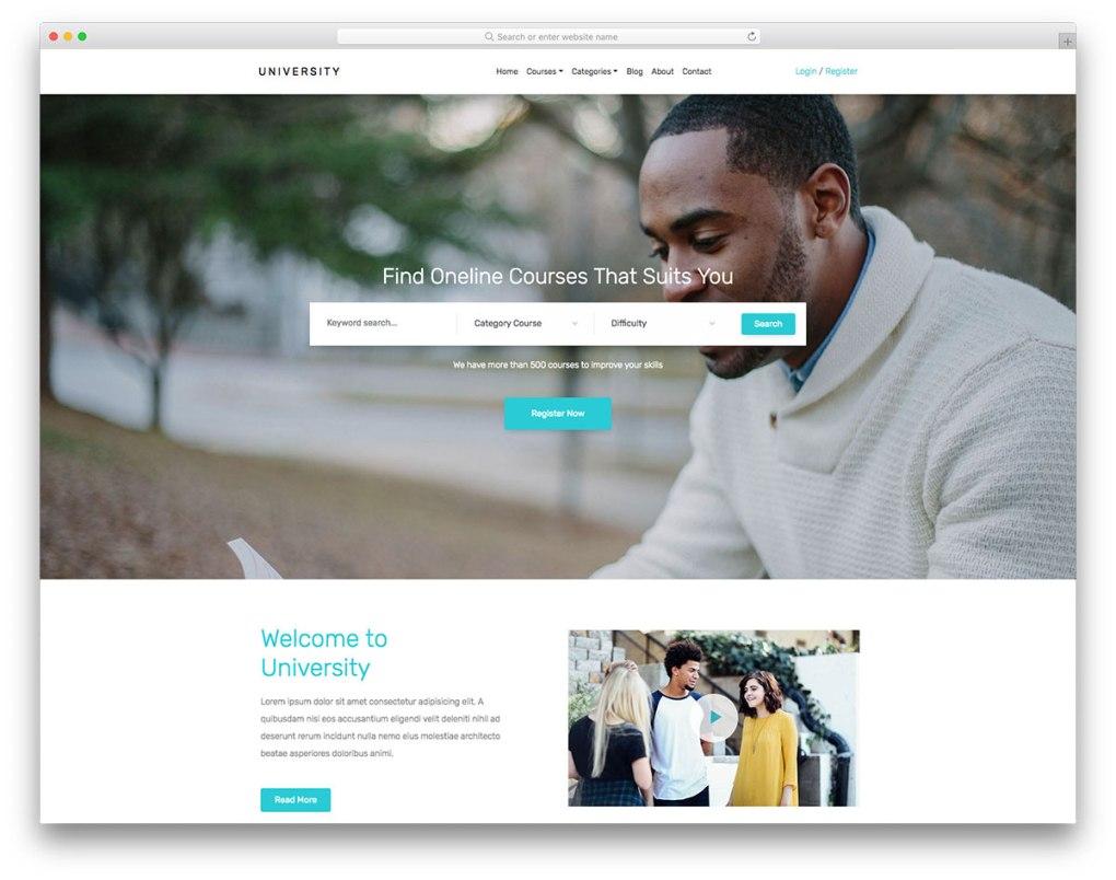 modèle gratuit de l'université