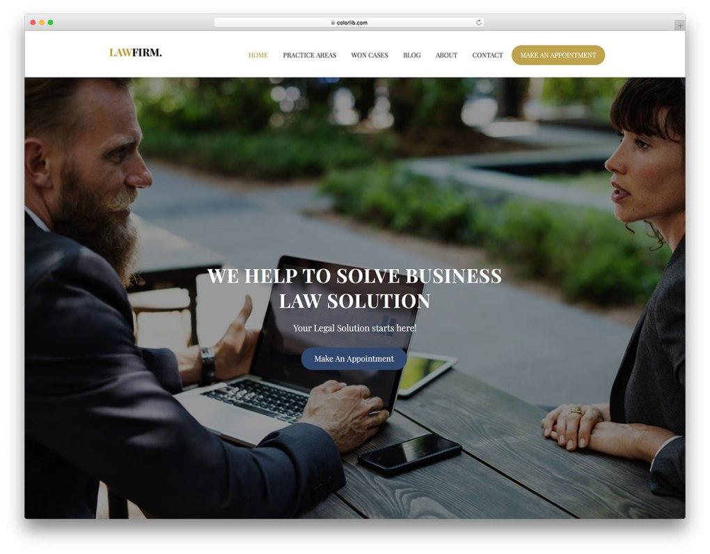 modèle de site Web gratuit adapté aux mobiles de lawfirm