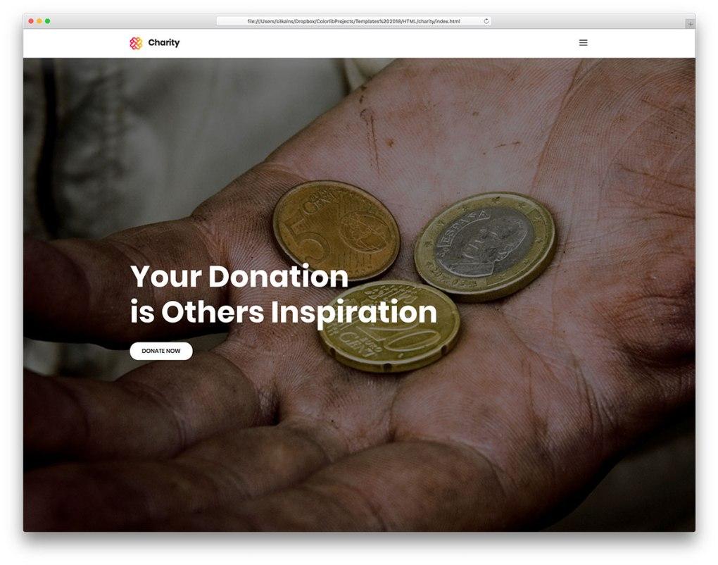 modèle de site Web gratuit pour les organismes de bienfaisance