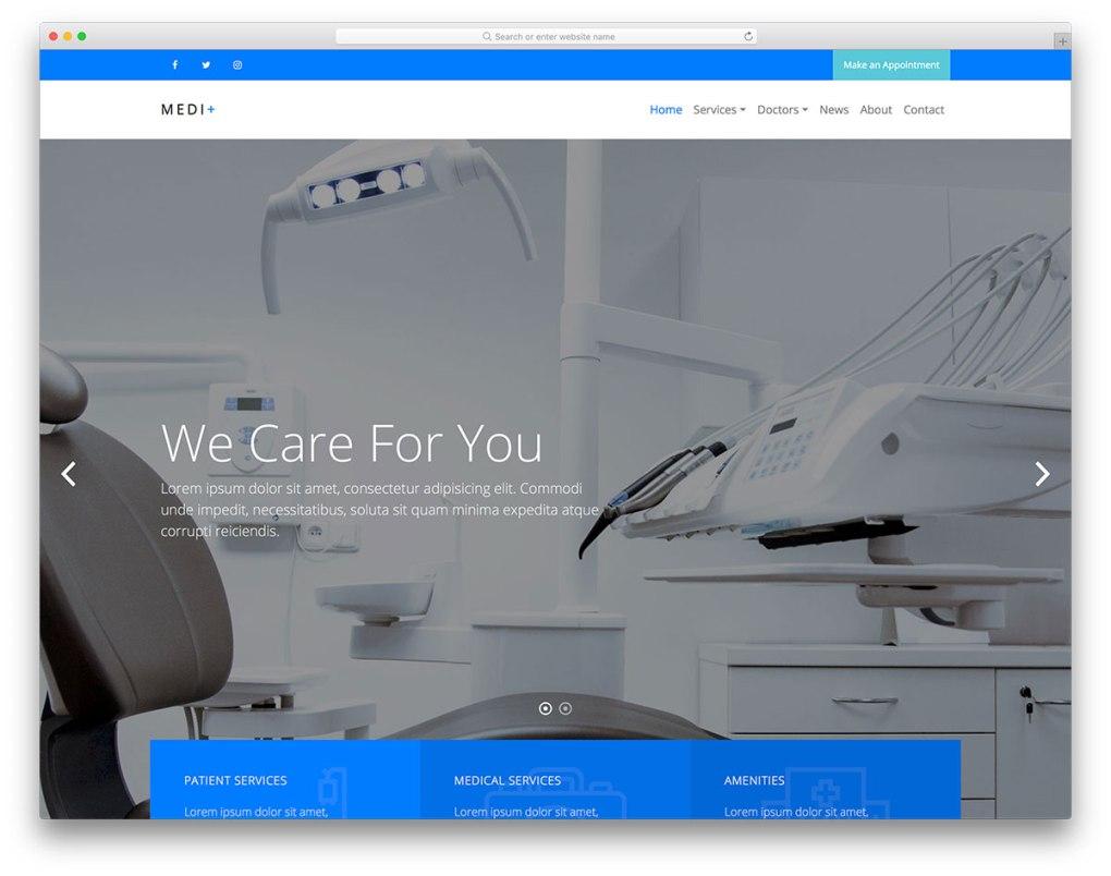 modèle de site Web mobile gratuit medi