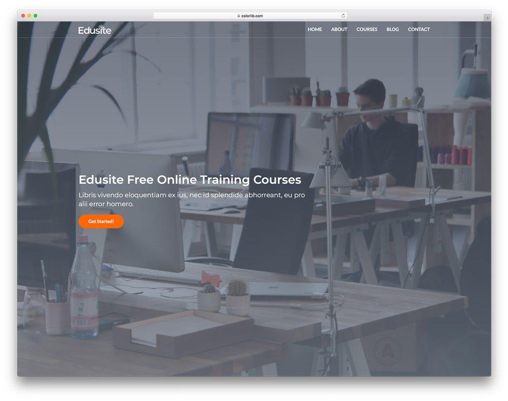 edusite free mobile-friendly website template
