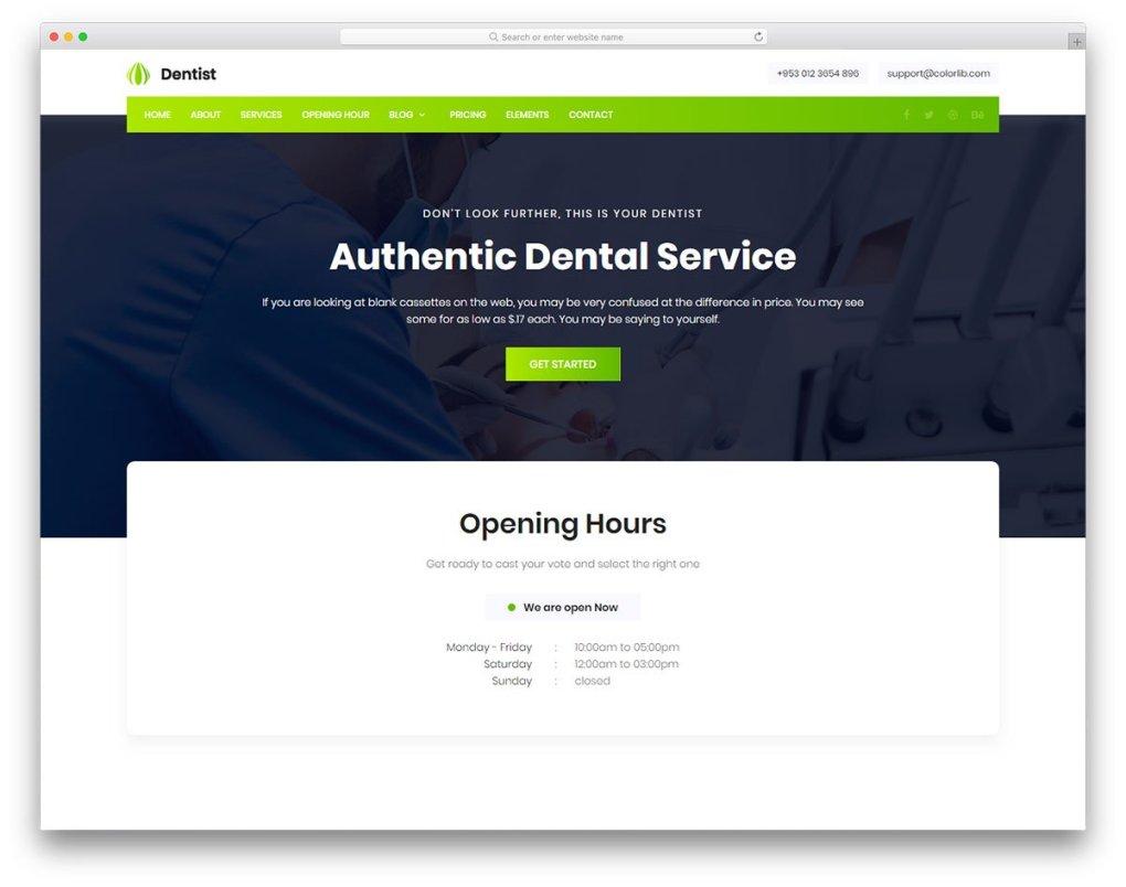 Modèle gratuit de dentiste