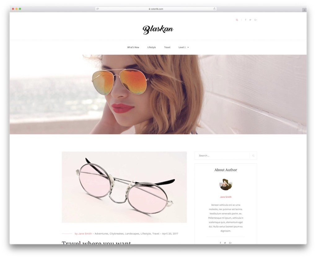 blaskan free website template