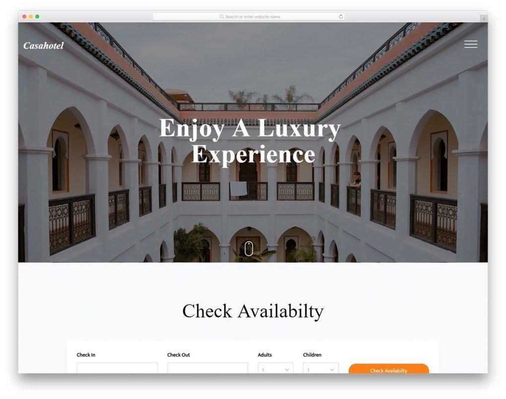 modèle gratuit de casahotel