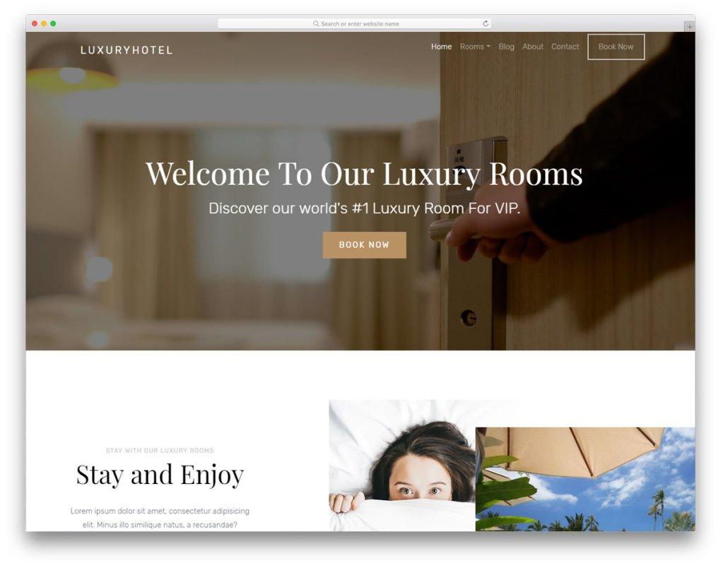 Modèle gratuit de Luxuryhotel