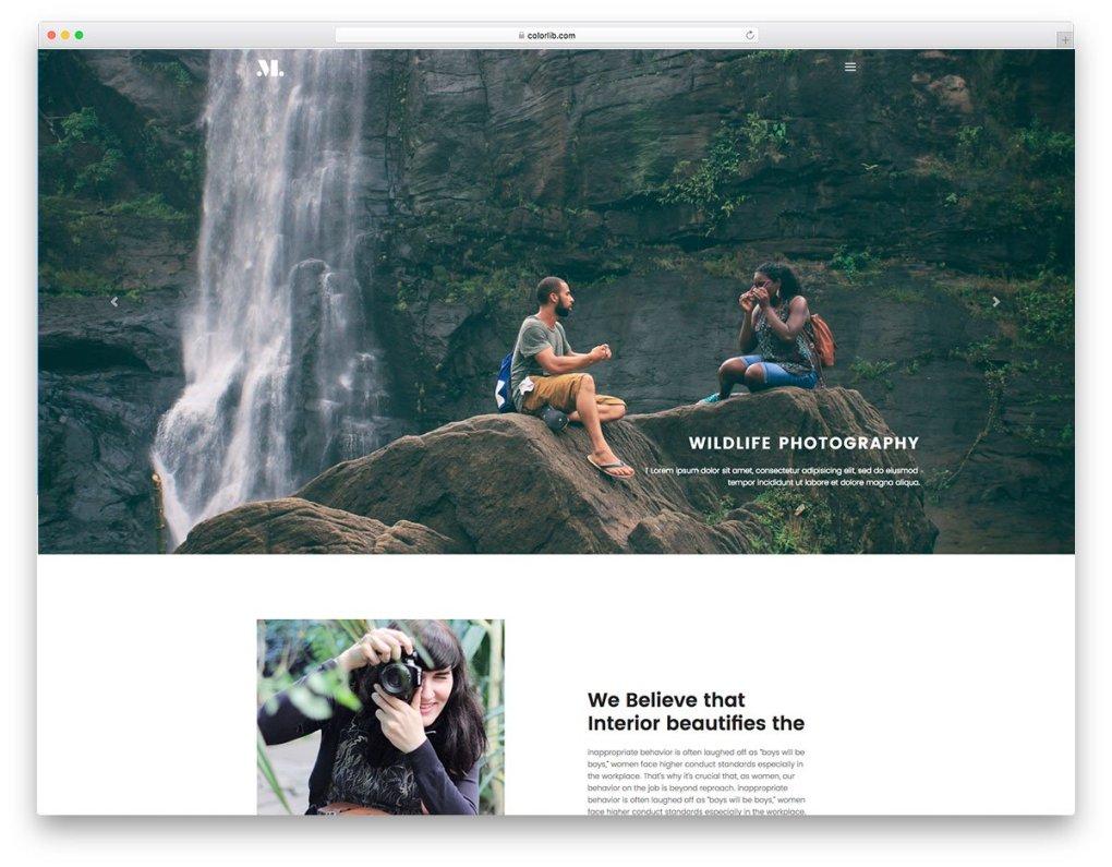Modèle de site Web gratuit de photographie