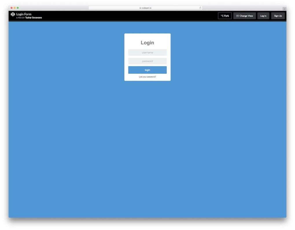 connectez-vous avec l'interface utilisateur plate