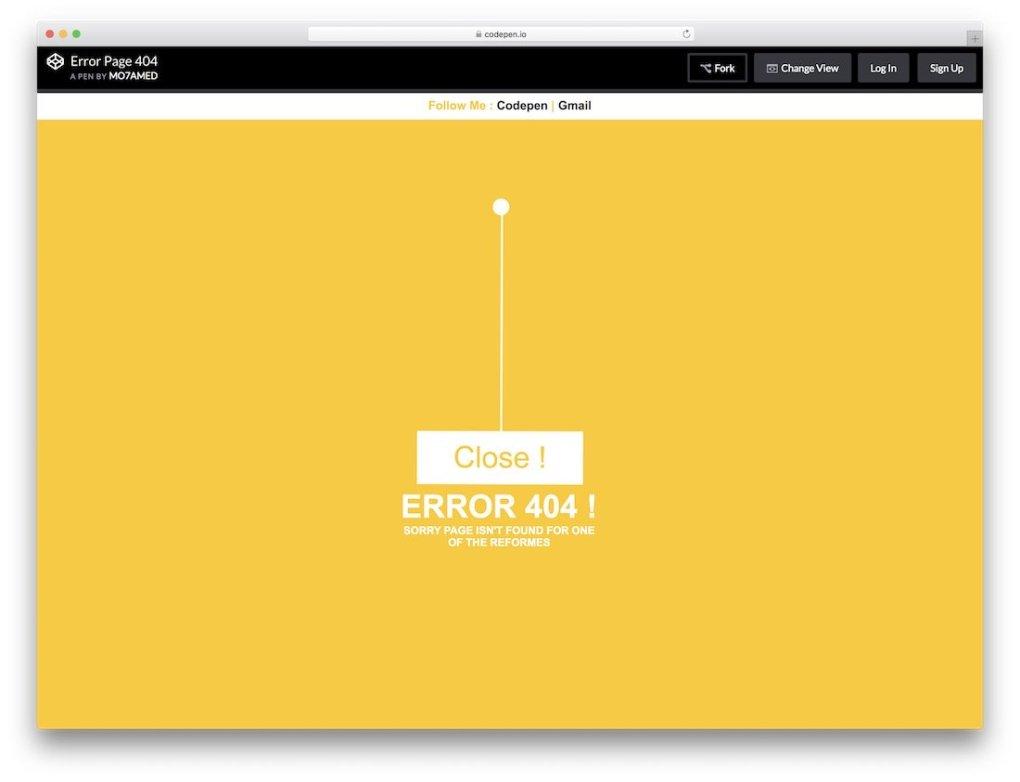 modèle de page d'erreur gratuit fermé