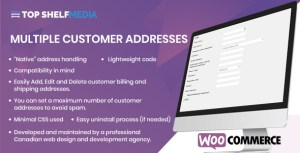 WooCommerce Multiple Customer Addresses Manager