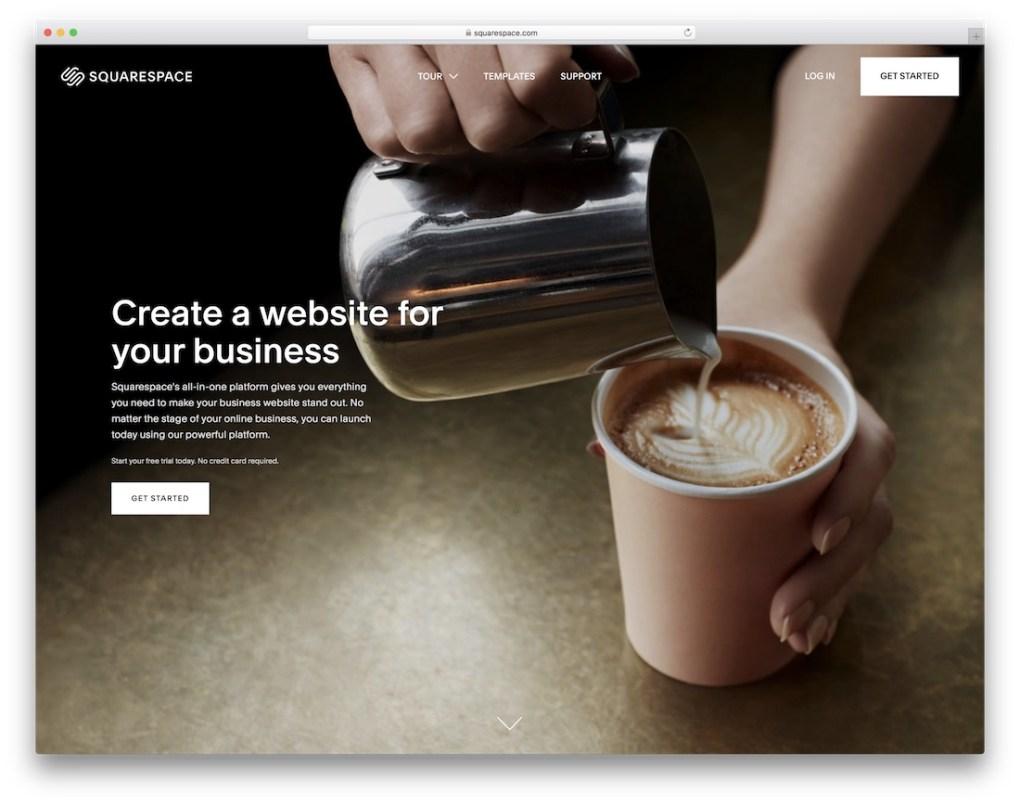constructeur de site web squarespace pour entreprise de construction