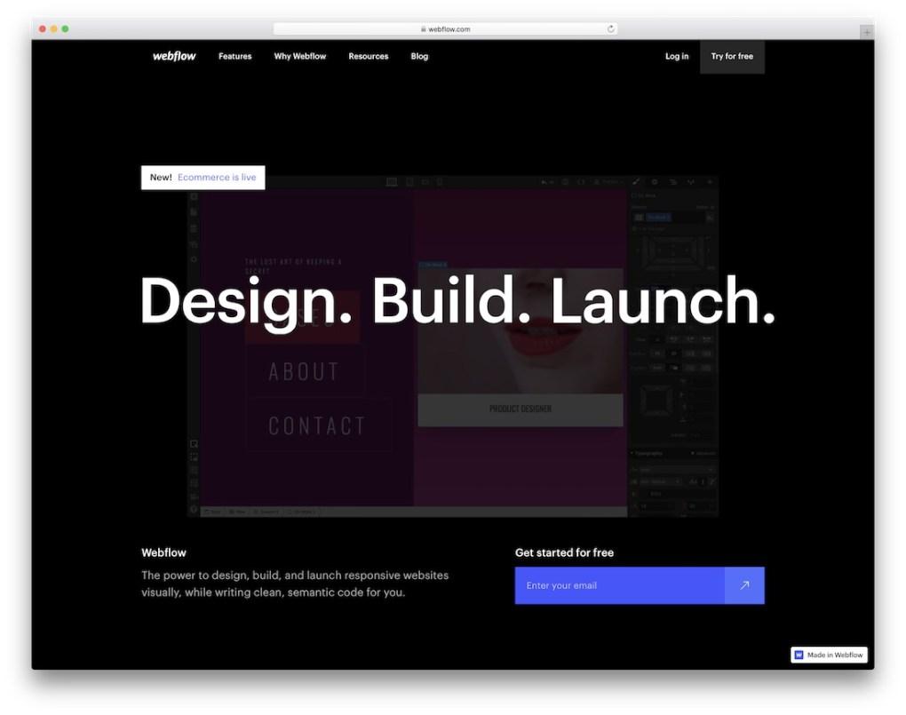 constructeur de site web webflow pour entreprise de construction