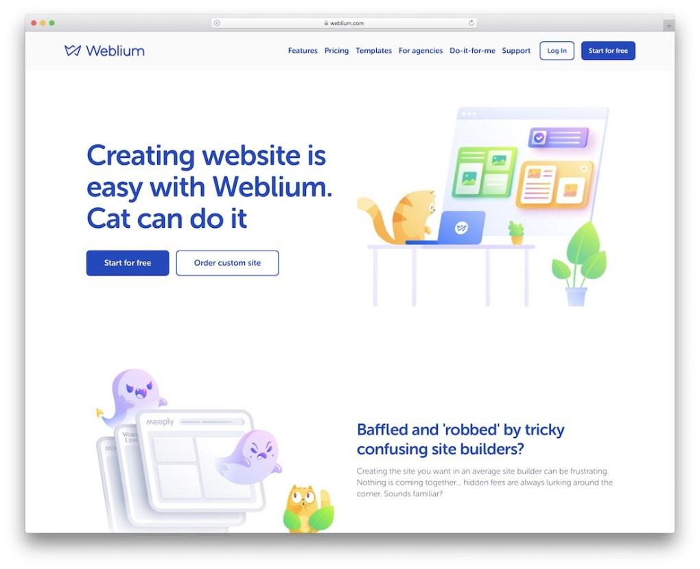 constructeur de site web weblium pour entreprise de construction