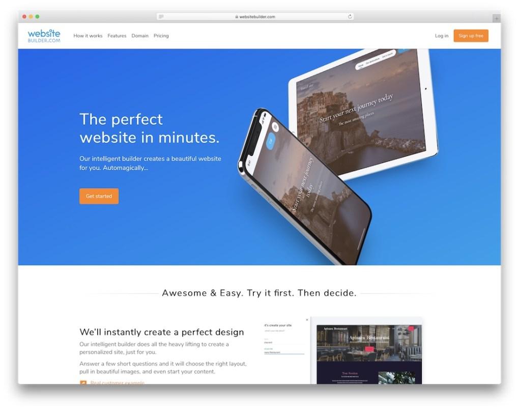 constructeur de sites Web pour entreprise de construction