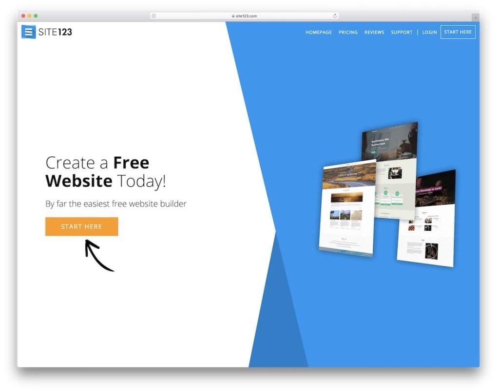 créateur de site web site123 pour entreprise de construction